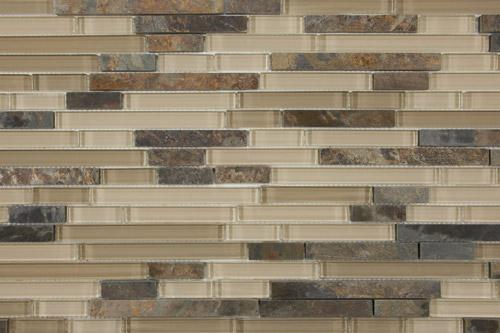 Woodland Linear Stone & Glass Mosaics